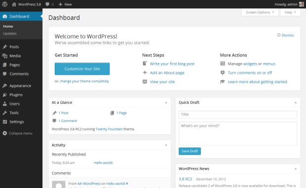 wordpress_default_dashboard